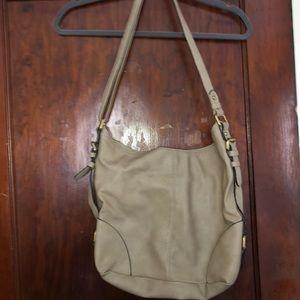 Tan/cream purse
